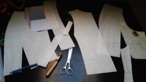 Plan de travail d'une costumière